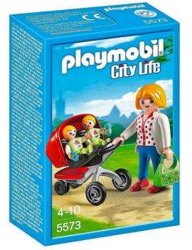 Playmobil carrito de gemelos