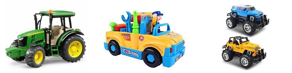 En juguetes y artículos para bebé encontraras los mejores vehículos, circuitos y parking.